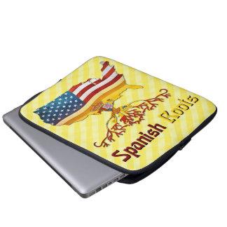 Amerikaanse Spaanse Laptop van Wortels Dekking Laptop Sleeve