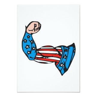 Amerikaanse Spier 12,7x17,8 Uitnodiging Kaart