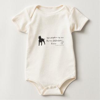 Amerikaanse staffordshire terriër baby shirt