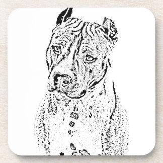 Amerikaanse Staffordshire Terrier Bier Onderzetter