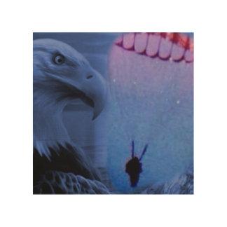 Amerikaanse Valschermjager Hout Afdruk