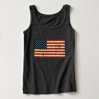 Amerikaanse Verontruste Vlag Tanktop