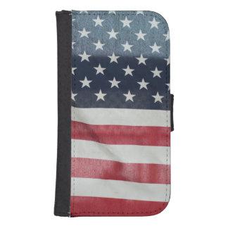 Amerikaanse Vlag bij de Markt van de Provincie van Galaxy S4 Portemonnee Hoesje