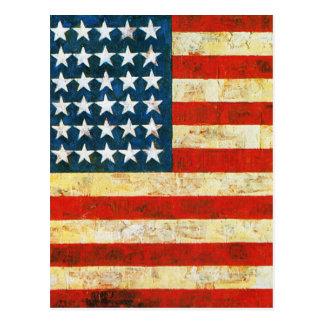 Amerikaanse Vlag Briefkaart