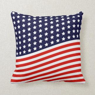 Amerikaanse Vlag - de Rode, Witte en Blauwe V.S. Sierkussen