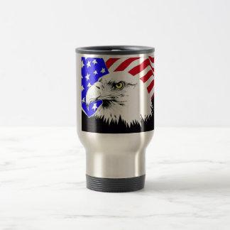 Amerikaanse Vlag en Kaal Eagle Reisbeker