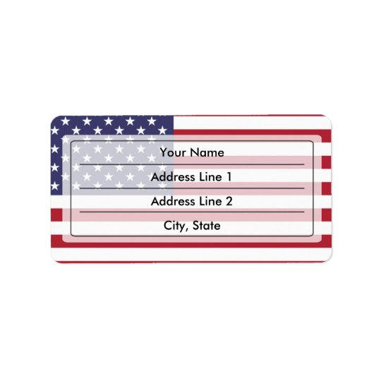 Amerikaanse vlag etiket
