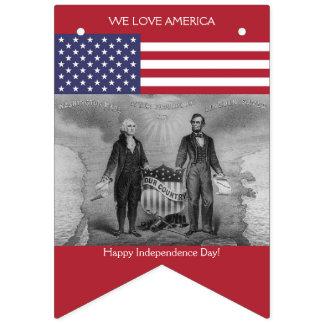 Amerikaanse Vlag George Washington Abraham Lincoln Vlaggetjes