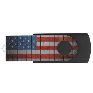 Amerikaanse Vlag Geschilderde Omheining USB Stick