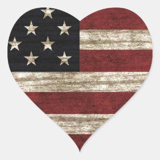 Amerikaanse Vlag Hart Sticker