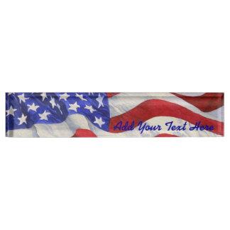 Amerikaanse Vlag - het Naambord van het Bureau