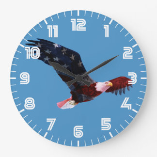 Amerikaanse Vlag Kaal Eagle Grote Klok