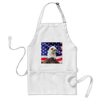 Amerikaanse Vlag met Eagle Standaard Schort