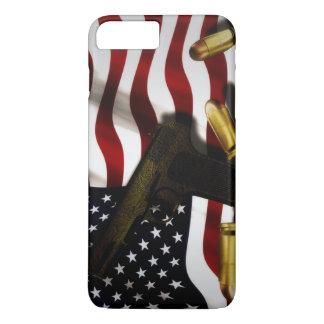 Amerikaanse vlag met pistool iPhone 8/7 plus hoesje