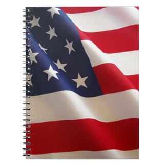 Amerikaanse Vlag Notitie Boek