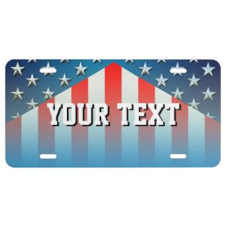 Amerikaanse Vlag Nummerplaat