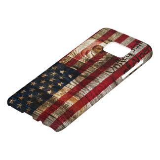 Amerikaanse vlag op houten raad samsung galaxy s7 hoesje