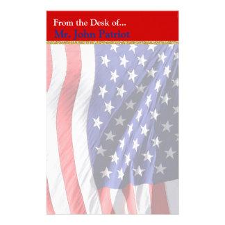 Amerikaanse Vlag | Patriottische Gift voor Briefpapier