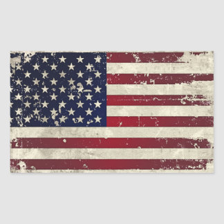 Amerikaanse Vlag Rechthoekige Sticker