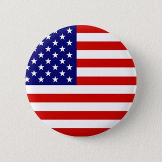 Amerikaanse Vlag Ronde Button 5,7 Cm