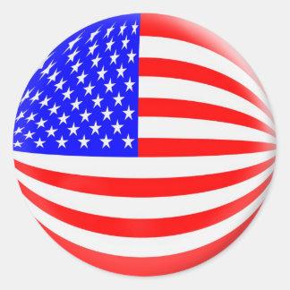 Amerikaanse vlag van de 20 de kleine stickersV.S. Ronde Sticker