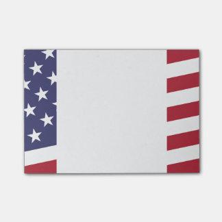 Amerikaanse Vlag - vier de V.S. - 4 Juli Schrijver Post-it® Notes