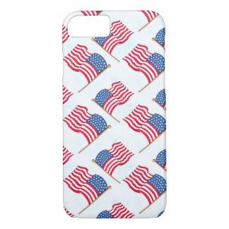 Amerikaanse Vlag vierde van het Rode Witte Blauw iPhone 8/7 Hoesje