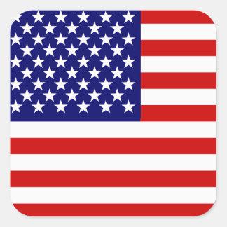 Amerikaanse vlag vierkante sticker