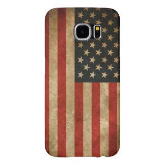 Amerikaanse Vlag vintage Grunge - Patriottische de Samsung Galaxy S6 Hoesje