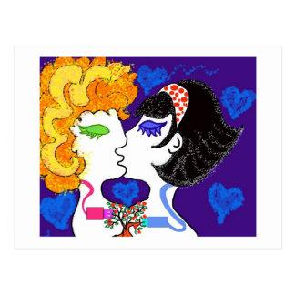 Amor + spaanders + fantasieën briefkaart