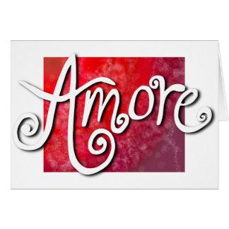 Amore - omgekeerde rode jazzy briefkaarten 0