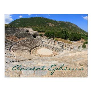 Amphitheatre in Oude Ephesus- moderne dag Turkije Briefkaart