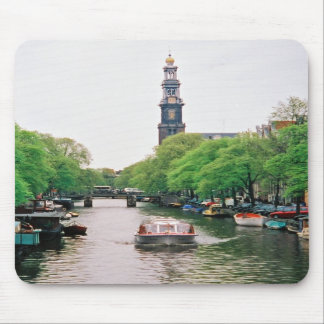 Amsterdam Canalboat Mousepad Muismat
