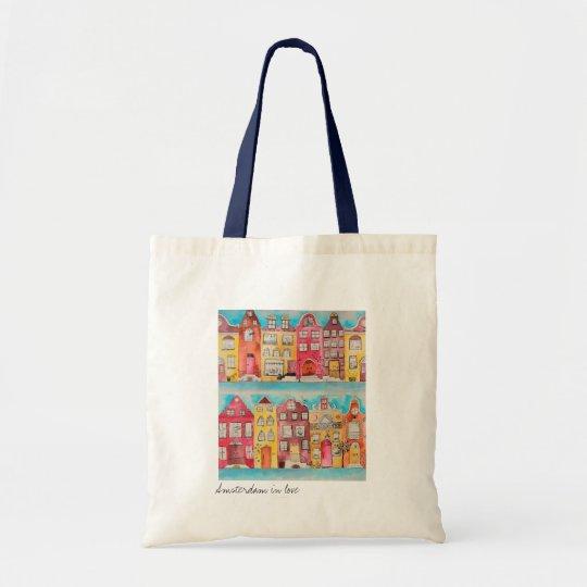 Amsterdam in love tote bag draagtas