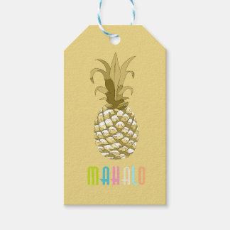 Ananas Gouden Mahalo ID239 Cadeaulabel