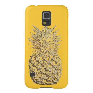 Ananas op Geel Goud Galaxy S5 Hoesje