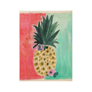 Ananas Tropische Leia Houten Poster