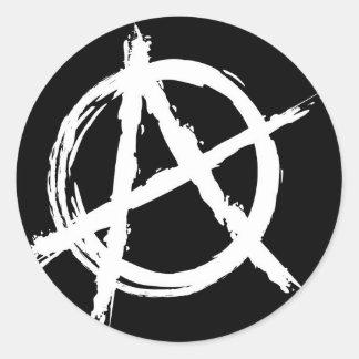 Anarchie Ronde Sticker