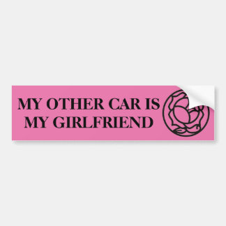 andere auto is mijn vriendin bumpersticker