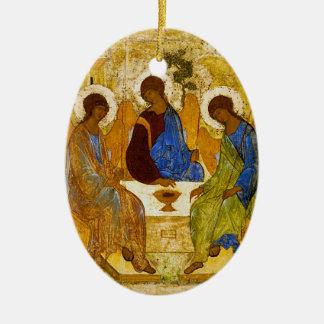 "Andrei Rublev , "" Holy Trinity "" Keramisch Ovaal Ornament"