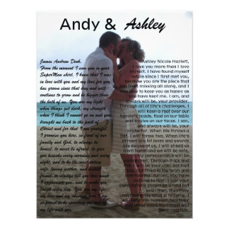 Andy & Ashley, huwelijkspic met geloften Foto Afdruk
