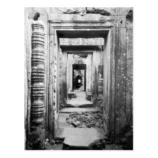 Angkor Kambodja, Deuropeningen Preah Khan Briefkaart