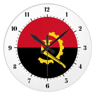 Angolese vlag ronde klok large