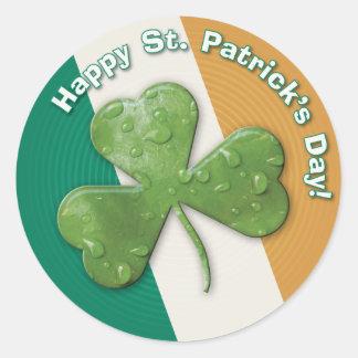 Angstaanjagende klaver: Gelukkige St. Patrick Dag! Ronde Stickers
