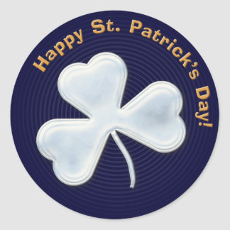 Angstaanjagende klaver: Gelukkige St. Patrick Dag! Ronde Sticker