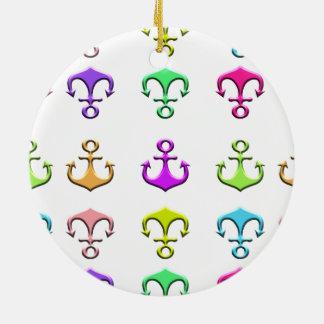 ankers van kleuren rond keramisch ornament