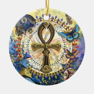 Ankh Rond Keramisch Ornament