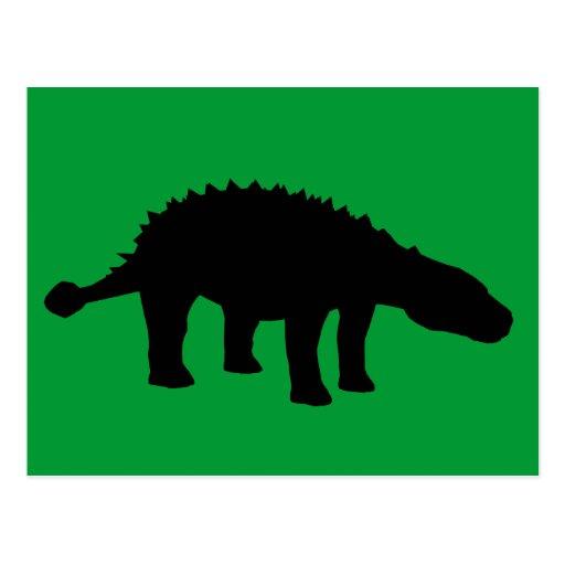 Ankylosaurus Dino Dinosaur Silhouette Wens Kaarten
