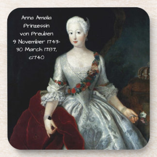 Anna Amalia Prinzessin von Preuben c1740 Drankjes Onderzetter