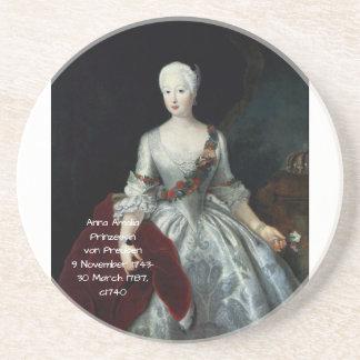 Anna Amalia Prinzessin von Preuben c1740 Zandsteen Onderzetter